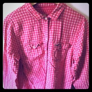Hollister long sleeve button up shirt